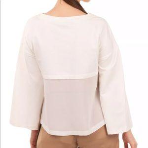 NWT KAOS JEANS Ivory Sweatshirt Size L